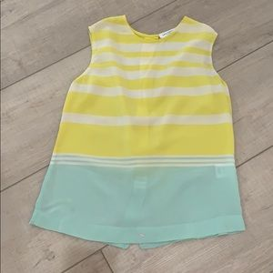 Equipment silk stripe tank XS